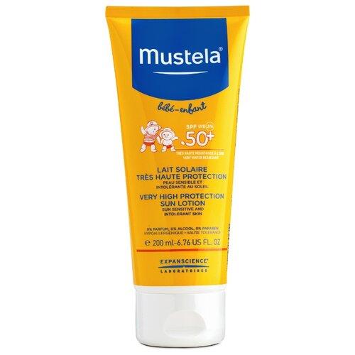 Mustela Детское солнцезащитное молочко для лица и тела SPF 50 200 мл biosolis sun milk spf 30 солнцезащитное молочко для лица и тела spf 30 100 мл