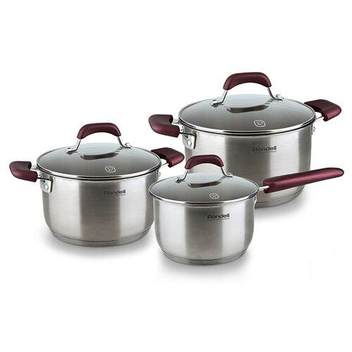 Набор посуды Rondell Bojole RDS-823 6 пр. серебристый