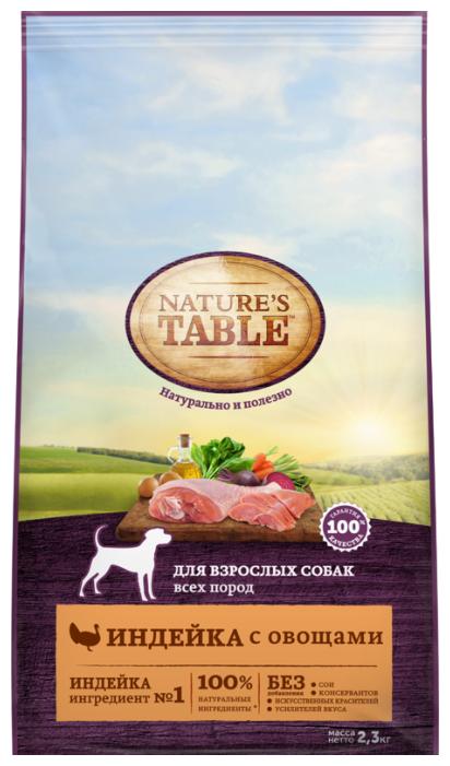 Корм для собак Nature's Table Для взрослых собак всех пород индейка с овощами сухой