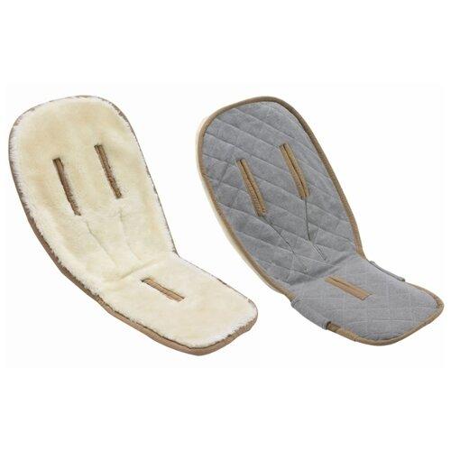 Матрас для прогулочной коляски Bugaboo Wool seat liner off-white автокресло 0 bugaboo turtle by nuna car seat для коляски buffalo fox 80703zw01 441200mc01