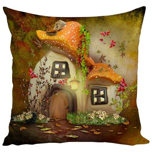Подушка декоративная Marca Marco Milano 167, 45 x 45 см бежевый/коричневый/белыйДекоративные подушки<br>