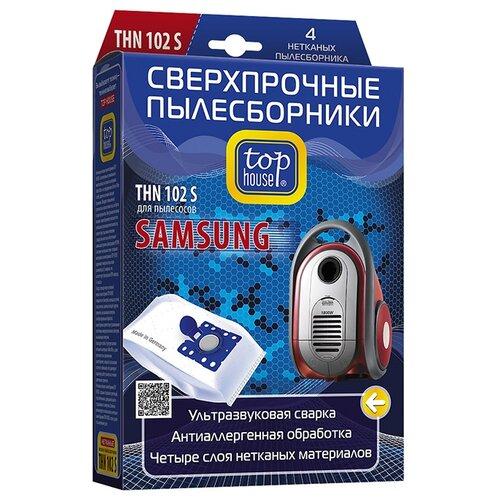 цена на Top House Пылесборники THN 102 S белый 4 шт.