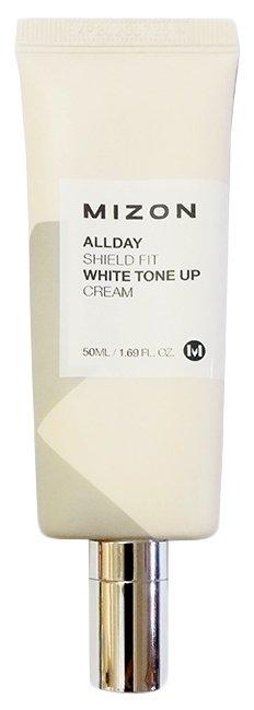 Mizon Allday shield fit white Tone up cream Отбеливающий увлажняющий крем для лица