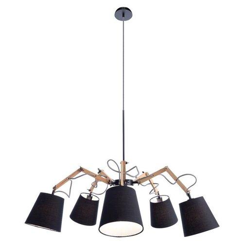 Люстра Arte Lamp Pinocchio A5700LM-5BK, E14, 200 Вт люстра arte lamp pinoccio a5700lm 5bk