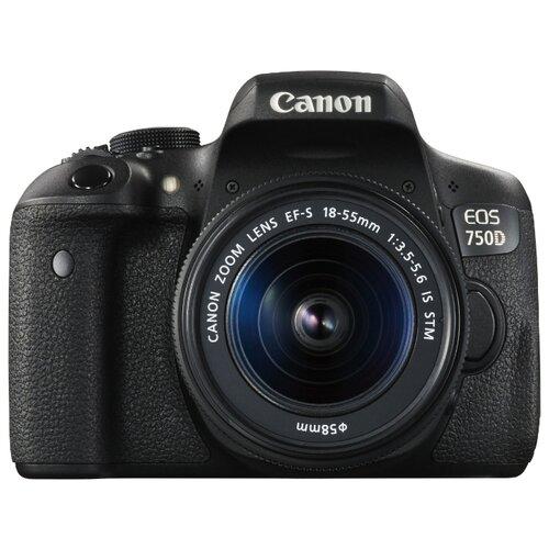 Фотоаппарат Canon EOS 750D Kit черный EF-S 18-55mm f/3.5-5.6 IS STMФотоаппараты<br>