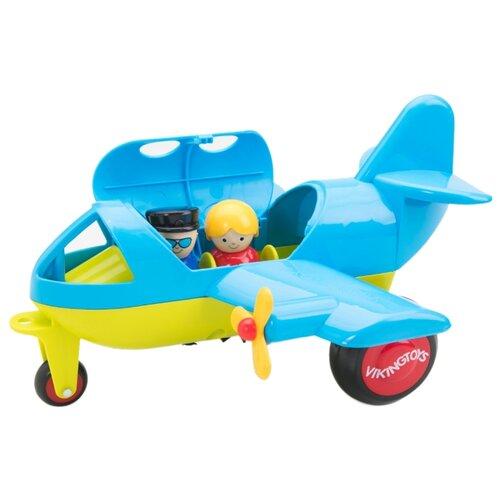 Купить Самолет Viking Toys Jumbo (701270) 30 см голубой/желтый, Машинки и техника