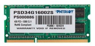 Patriot Memory Оперативная память Patriot Memory PSD34G16002S