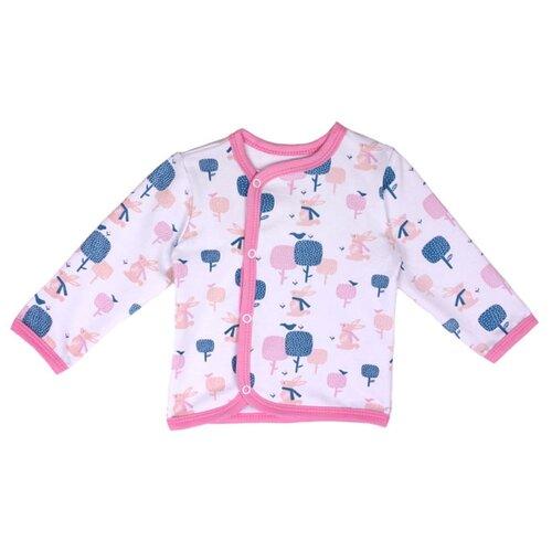 Распашонка KotMarKot размер 62, белый/розовый/синийРаспашонки<br>