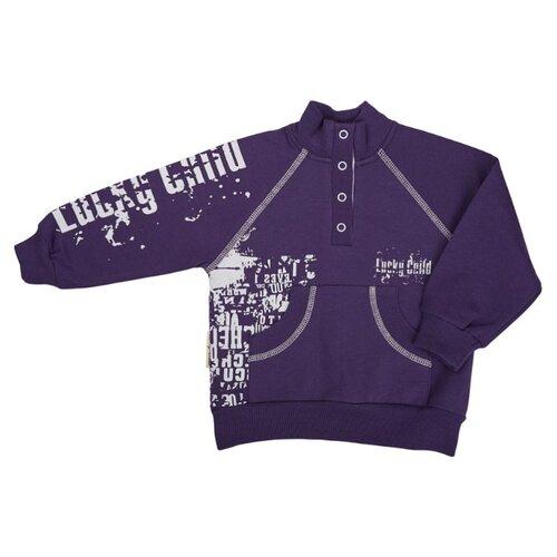Свитшот lucky child размер 28/1, фиолетовыйТолстовки<br>