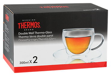 Thermos Набор чашек Double wall Glass