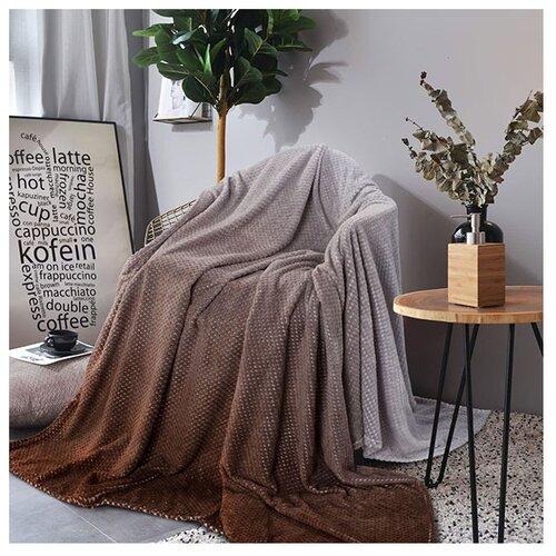 цена Покрывало Guten Morgen Какао, 150 х 200 см, коричневый онлайн в 2017 году