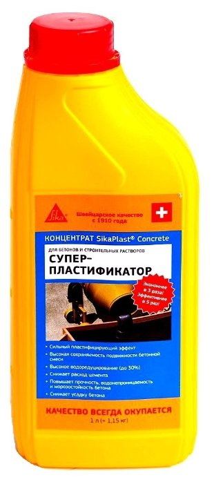 Добавка пластификатор Sika SikaPlast Concrete 1 л