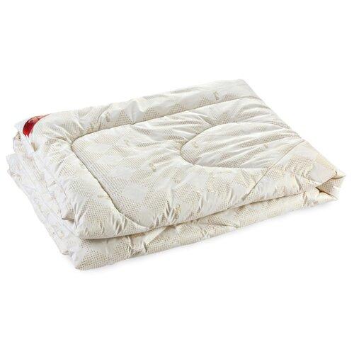 Одеяло Verossa Заменитель лебяжьего пуха, всесезонное, 200 х 220 см (бежевый/белый)