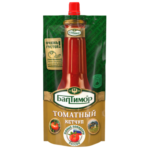 Фото - Кетчуп Балтимор Томатный с кусочками помидоров, дой-пак 260 г кетчуп кухмастер томатный 260 г