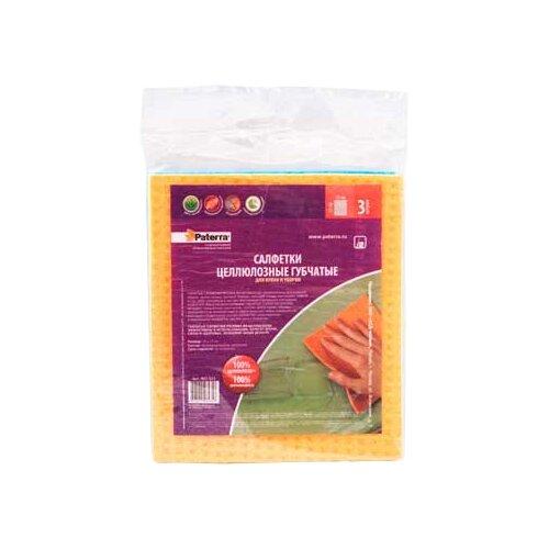 Салфетка губчатая для кухни и уборки Paterra 3 шт шторы для кухни gvinerya 130
