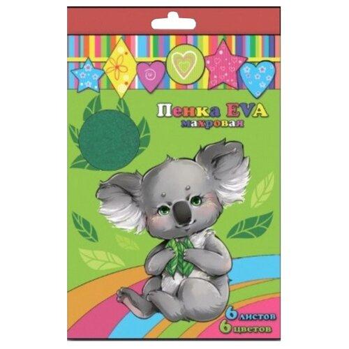 Купить Цветная бумага махровая 45661 Феникс+, A4, 6 л., 6 цв., Цветная бумага и картон