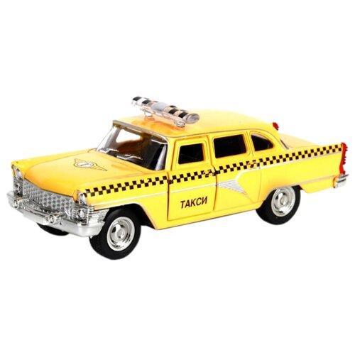 Легковой автомобиль ТЕХНОПАРК ГАЗ-13 Чайка Такси (X600-H09084-R) 1:48 желтый машины технопарк машина газ чайка такси