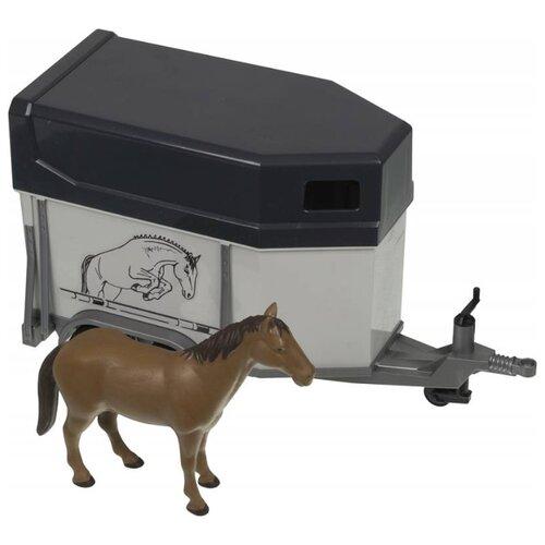 Прицеп Bruder коневозка с лошадью (02-028) 1:16 34 см белый/черный по цене 1 930