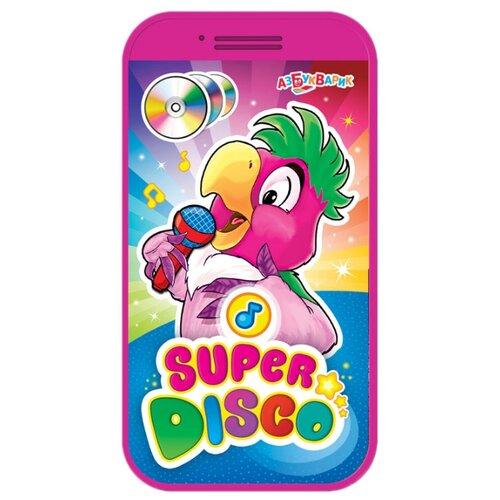 Интерактивная развивающая игрушка Азбукварик Мини-смартфончик Супердиско фиолетовый смартфончик азбукварик говорящая зооазбука 454 6