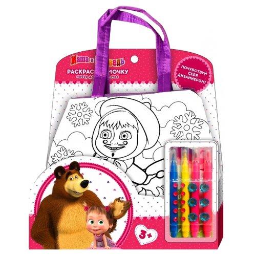 Купить MultiArt Набор для росписи сумки Маша и Медведь (B1525859-ММ), Роспись предметов