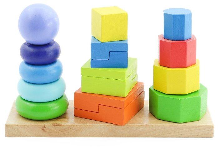 Пирамидка Игрушки из дерева 3 в 1
