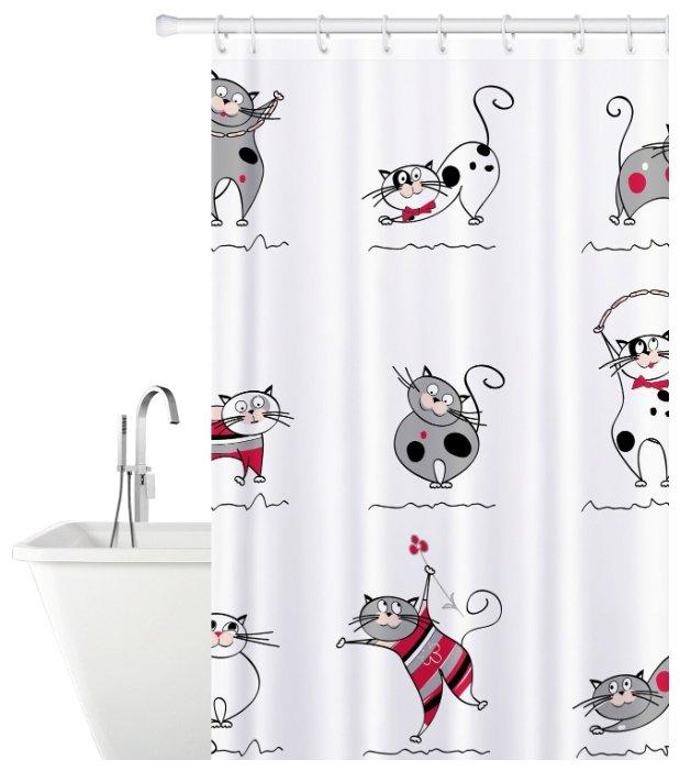 Штора для ванной Tatkraft Funny Cats 14664 180x180 — купить по выгодной цене на Яндекс.Маркете