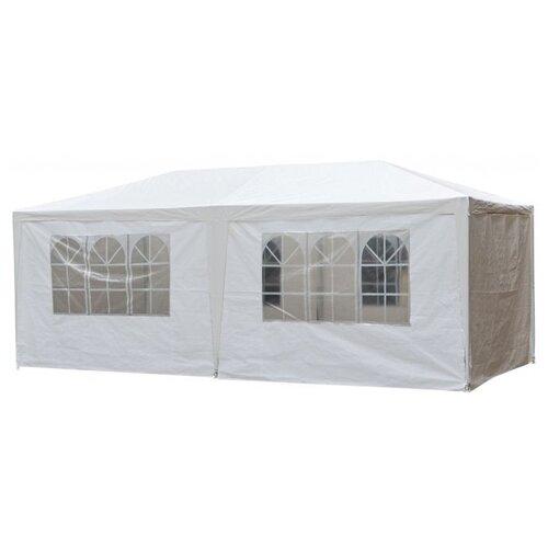 Шатер Афина-Мебель AFM-1015, со стенками, 6 х 3 х 2.5 м белый