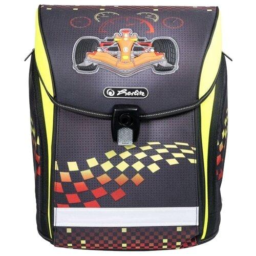 Купить Herlitz Ранец New Midi Formula 1, черный/салатовый, Рюкзаки, ранцы