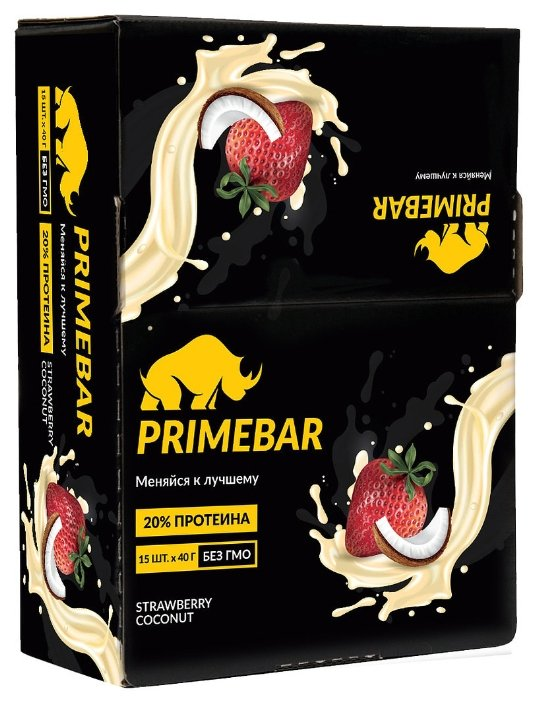 Prime Kraft протеиновый батончик Primebar (600 г)(15 шт.)