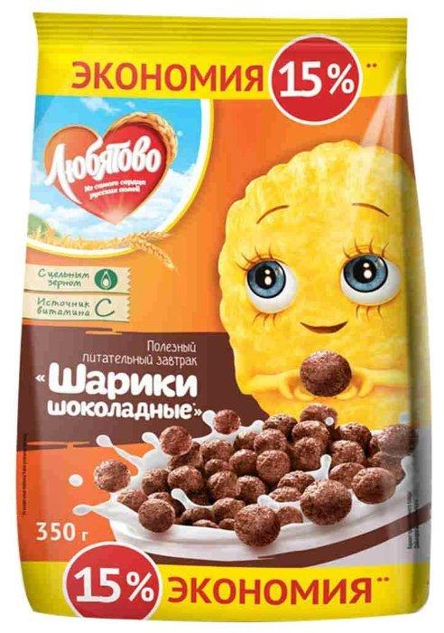Готовый завтрак Любятово Шарики шоколадные, пакет