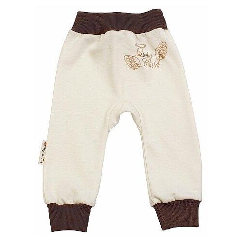 Брюки lucky child размер 24, молочныйБрюки и шорты<br>