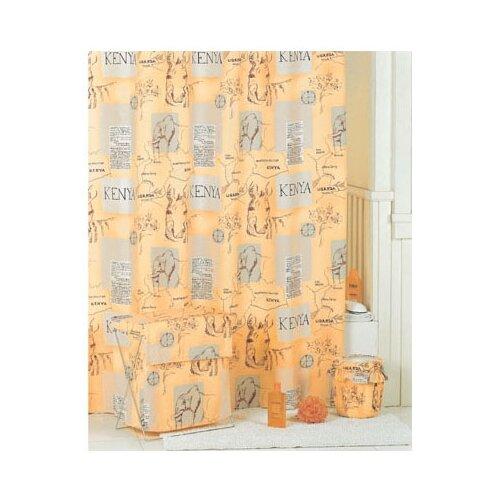 Штора для ванной IDDIS SCID110P 200x200 оранжевыйШторы и карнизы<br>