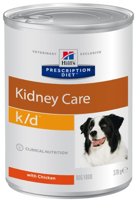 Корм для собак Hill's Prescription Diet при заболеваниях почек, курица 12шт. х 370г