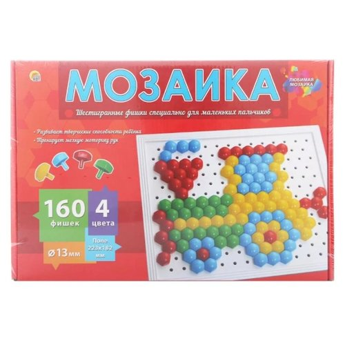 Купить Рыжий кот Мозаика 160 фишек (М-0285) разноцветный