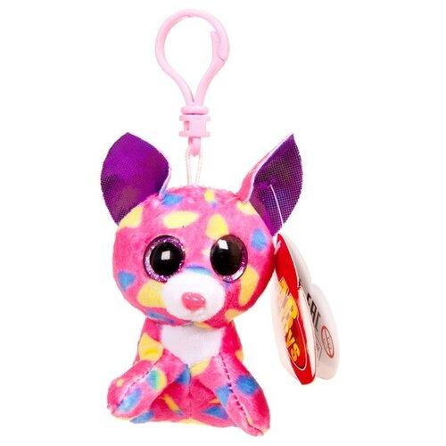 Игрушка-брелок ABtoys Котёнок розовый 8 см