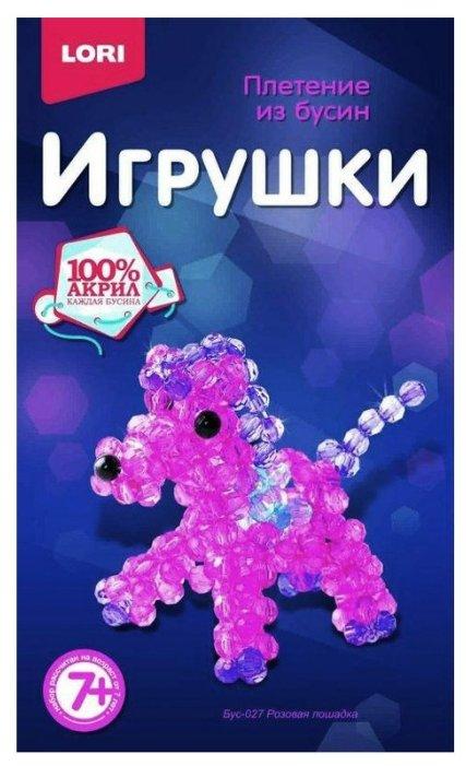 LORI Набор для бисероплетения Розовая лошадка