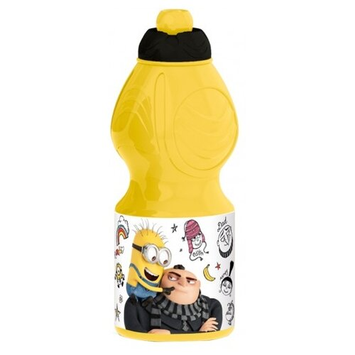 Бутылка для воды, для безалкогольных напитков Stor спортивная фигурная 0.4 пластик Гадкий я 3