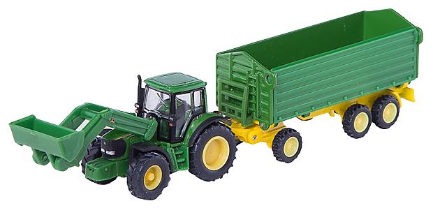 Трактор Siku John Deere с прицепом (1843) 1:87 22.6 см зеленый