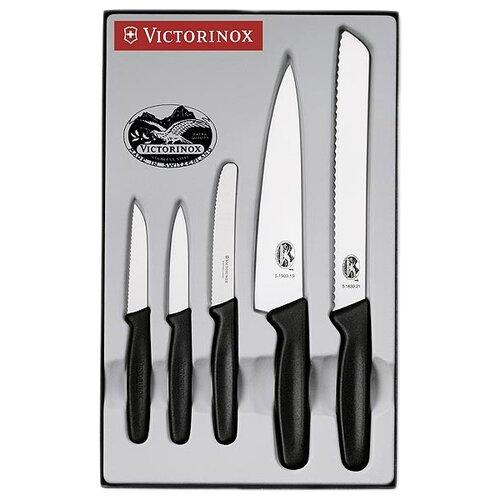 Набор VICTORINOX Standart 5 ножей черный victorinox набор ножей для стейков swiss classic 6 пр 11 см 6 7232 6 victorinox