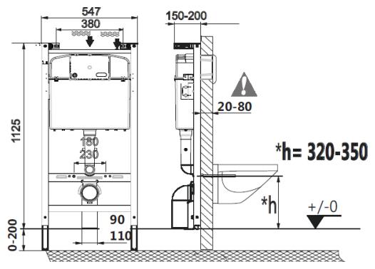 Унитаз с инсталляцией подвесной Roca The Gap 893104100 с горизонтальным выпуском