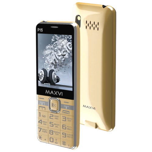 Телефон MAXVI P15 золотистый телефон