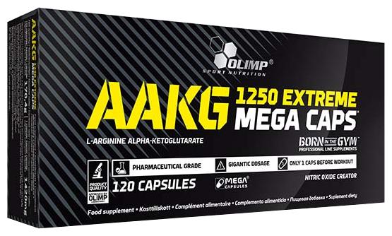 Аминокислота Olimp AAKG 1250 Mega (120 капсул)