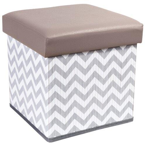 Пуфик с ящиком для хранения Tatkraft Fort искусственная кожа gray/white пуфик с ящиком для хранения тематика складной рогожка коричневый