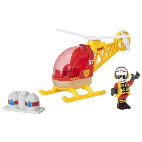 Вертолет Brio 33797 15 см красный / желтый