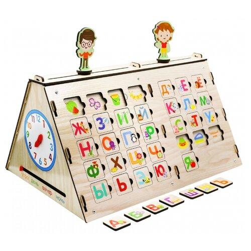 Купить Развивающая игрушка Мастер игрушек Бизиборд: Обучайка бежевый/зеленый/красный, Развивающие игрушки