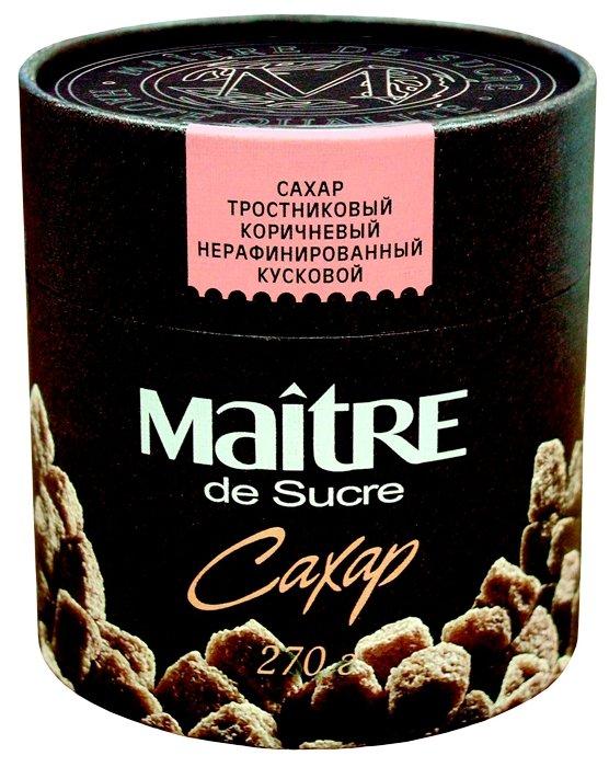 Сахар Maitre Тростниковый коричневый кусковой, картонная упаковка