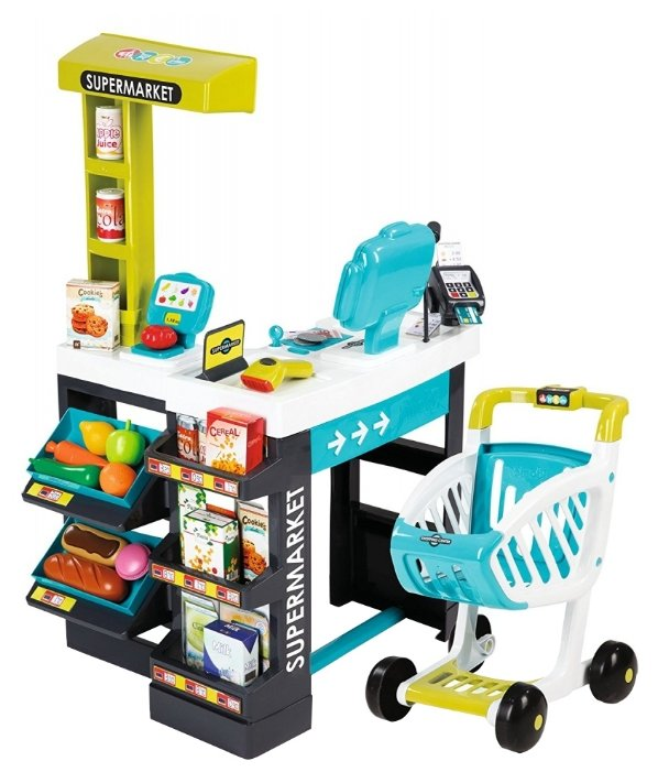 Магазин Smoby Supermarket с весами и сканером (350206)