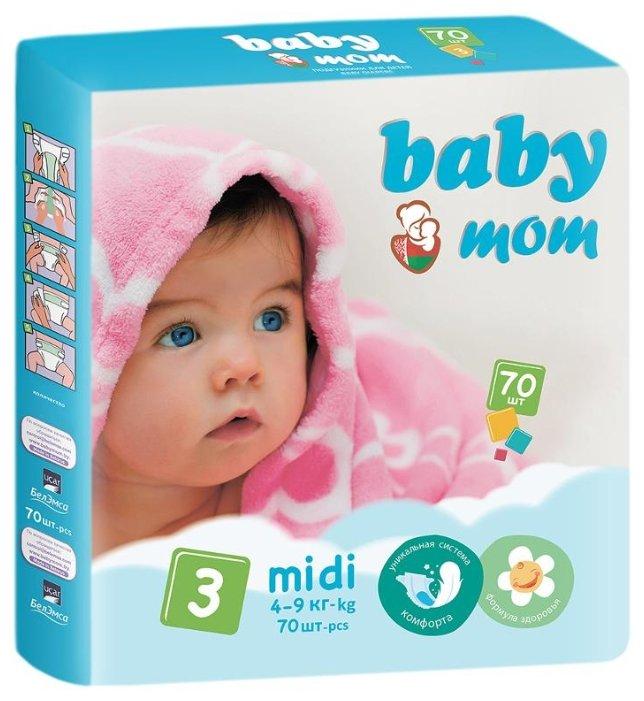 Baby Мom подгузники 3 (4-9 кг) 70 шт.