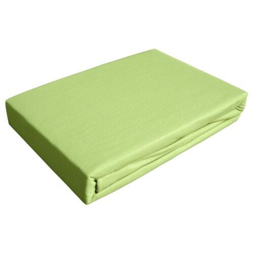 цена Простыня OLTEX трикотажная на резинке 140 х 200 см светло-зеленый онлайн в 2017 году
