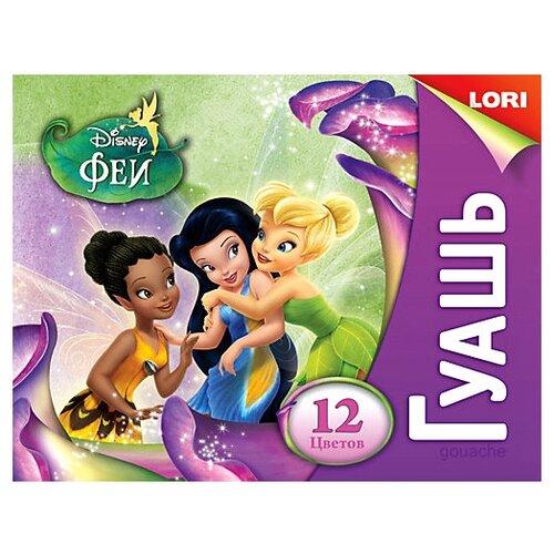 Купить LORI Гуашь Феи Disney 12 цветов х 20 мл (Гд-007), Краски